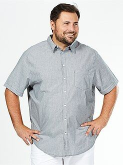 Grande taille homme Chemise droite manches courtes
