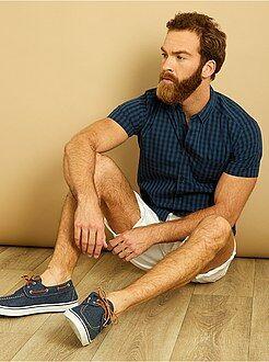 Homme du S au XXL Chemise droite manches courtes popeline imprimée