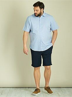 Chemise droite micro motifs tissés - Kiabi