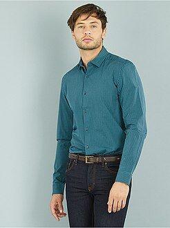 Homme du S au XXL Chemise droite popeline motif vichy