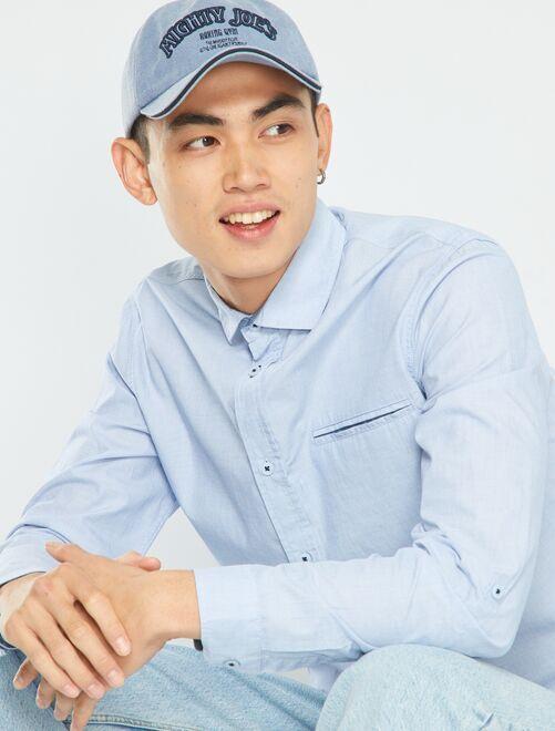 Chemise en chambray                             bleu