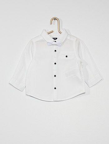 Chemise en coton avec nœud papillon