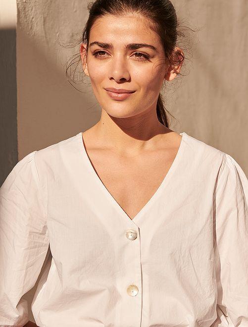 Chemise en coton                             blanc