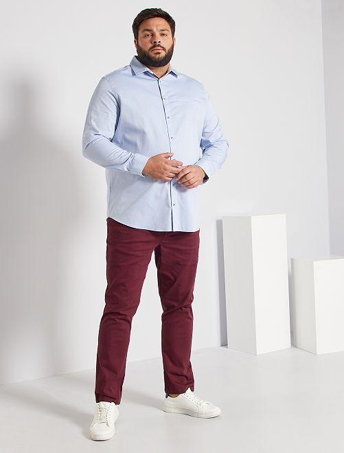 Chemise en coton                                         bleu