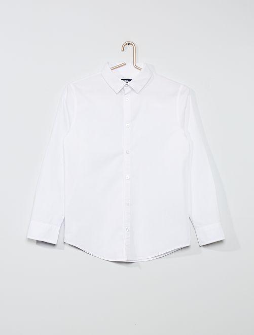 Chemise en coton oxford                             blanc