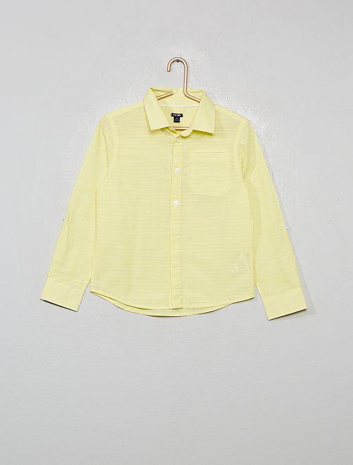 Chemise en coton reliéfé                                                     jaune