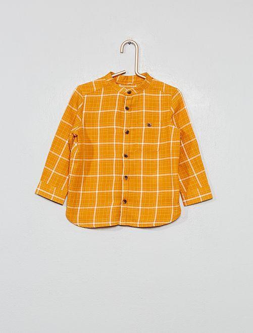 Chemise en flanelle à carreaux                             jaune