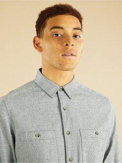 Homme du S au XXL Chemise en flanelle à rayures
