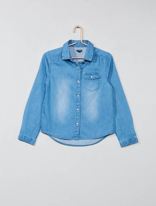 Chemise en jean                                         bleu Fille