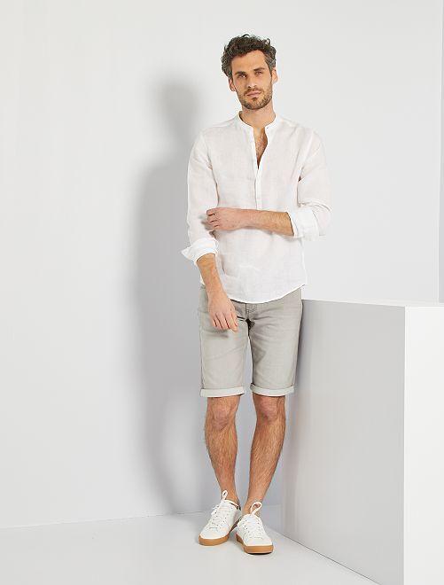 Chemise en lin éco-conçue                                                     blanc