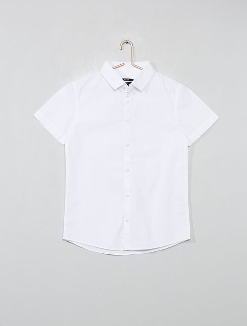 Chemise en popeline                             blanc Garçon adolescent