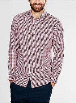 Homme du S au XXL Chemise en popeline coupe ajustée