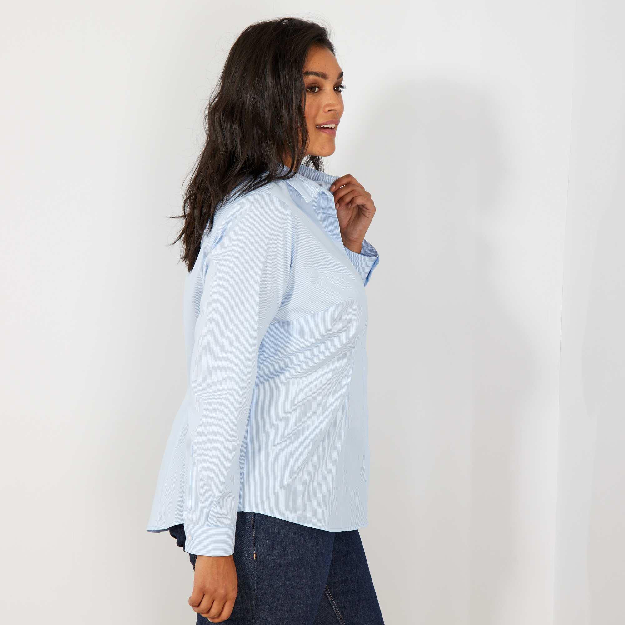 chemise en popeline stretch grande taille femme ray. Black Bedroom Furniture Sets. Home Design Ideas