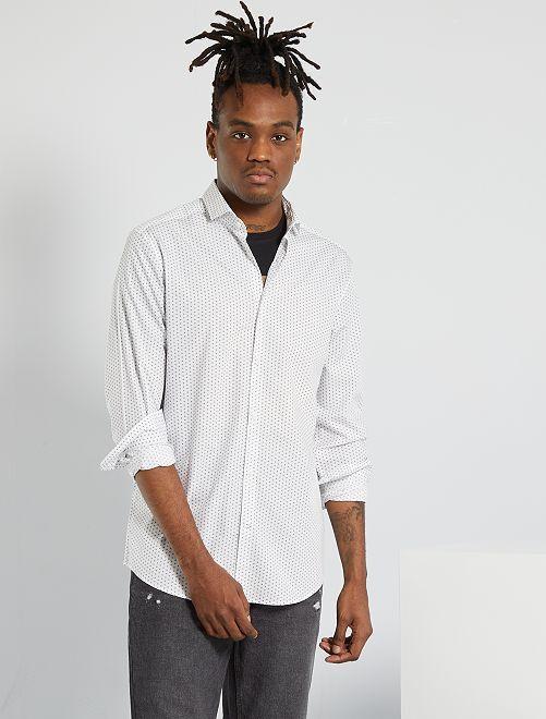 Chemise en pur coton                                         blanc