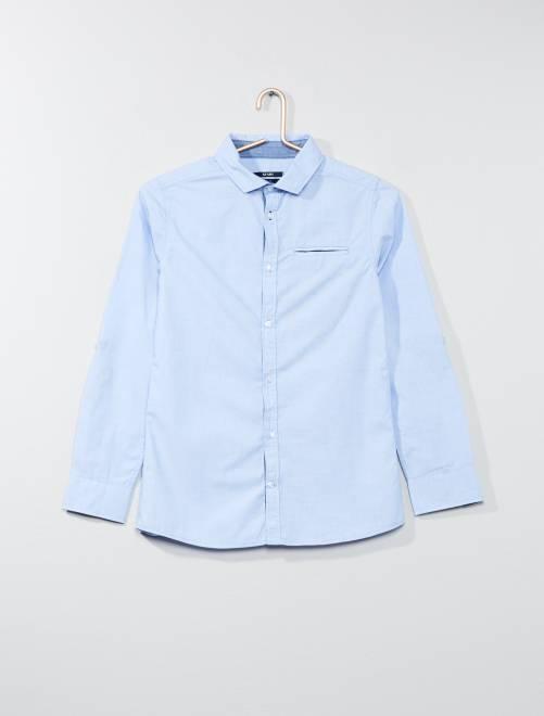 Chemise en pur coton                                         bleu