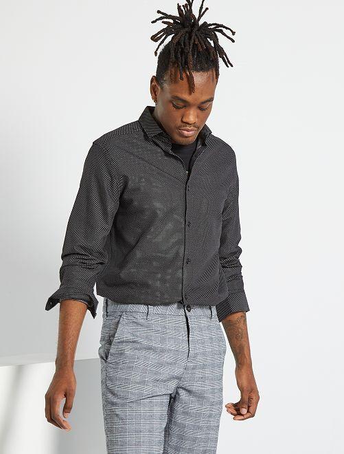 Chemise en pur coton                                         noir