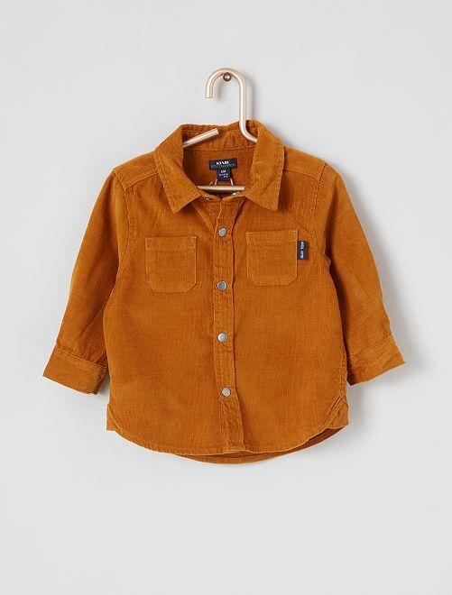 Chemise en velours côtelé                             marron