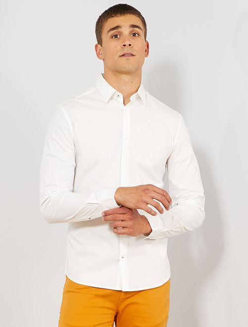 Chemise extra slim stretch                                                                 blanc