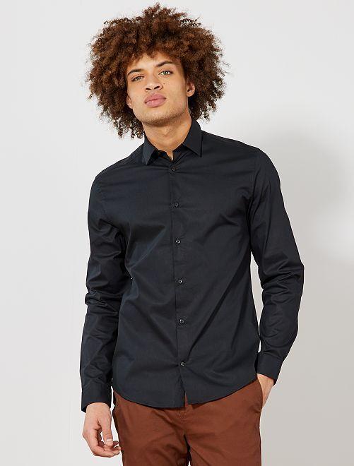 Chemise extra slim stretch                                                                 noir Homme