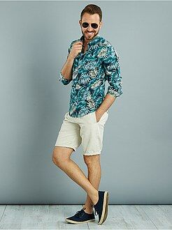Chemise casual - Chemise fitted imprimé 'jungle'