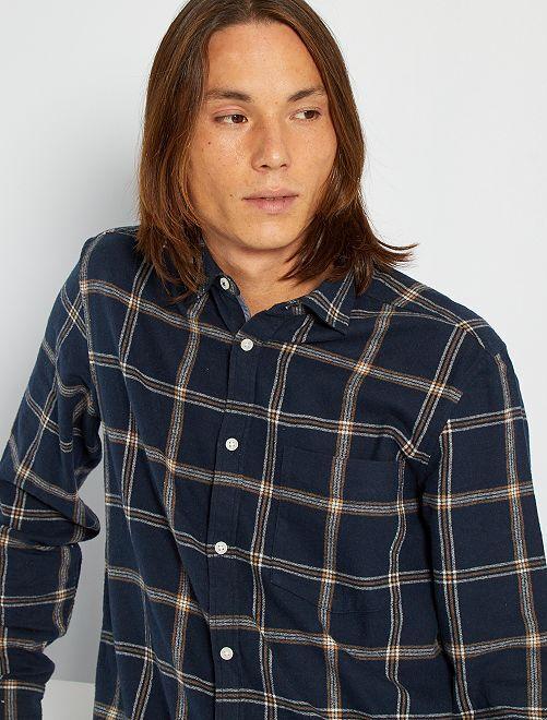 Chemise flanelle à carreaux                                         bleu marine