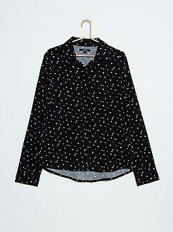 Chemise, blouse - Chemise fluide micro-motifs
