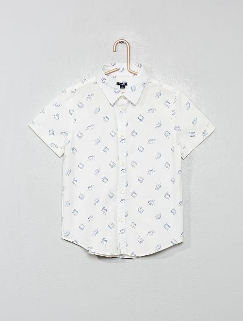 Chemise imprimée                                                                                         blanc