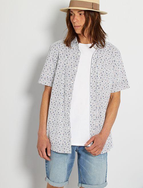 Chemise imprimée                                                                                                                                                                                                                                                                             blanc/rayures/fleurs