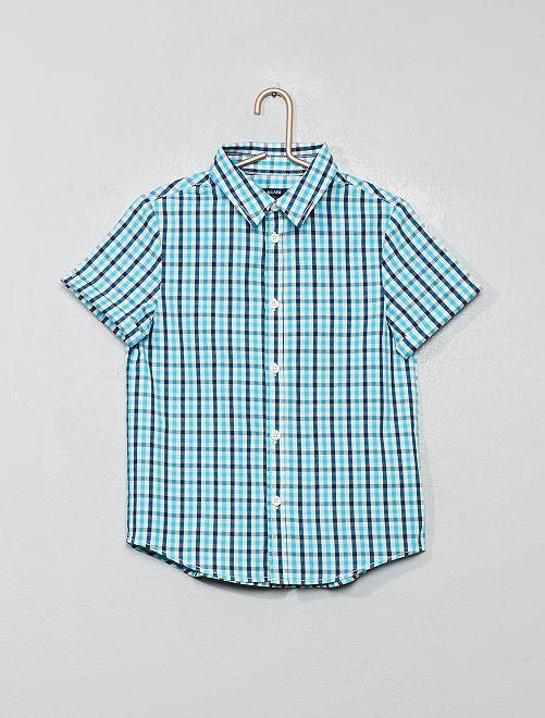 Chemise imprimée                                                                                         bleu/carreaux