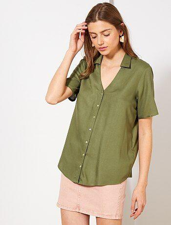 5ae3ecf603 Soldes chemise femme   tunique, blouse, chemisier - mode Femme   Kiabi