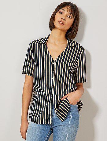 64785e6085 Soldes chemise femme | tunique, blouse, chemisier - mode Femme | Kiabi