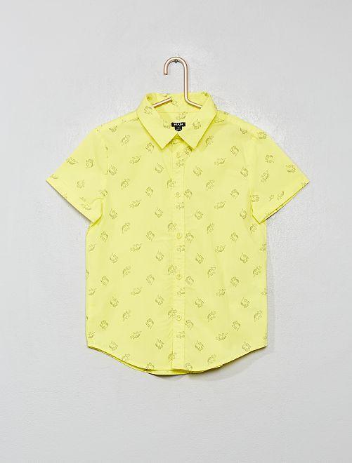 Chemise imprimée                                                                                         jaune