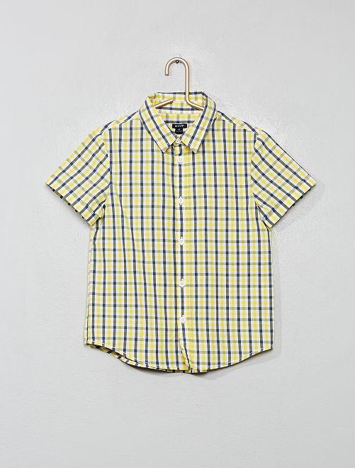 Chemise imprimée                                                                                         jaune/carreaux
