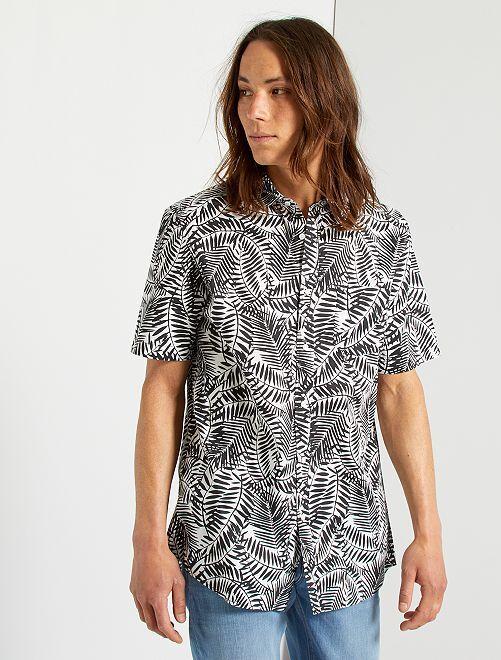 Chemise imprimée                                                                                                                                                                                                                                                                             noir/blanc/tropical