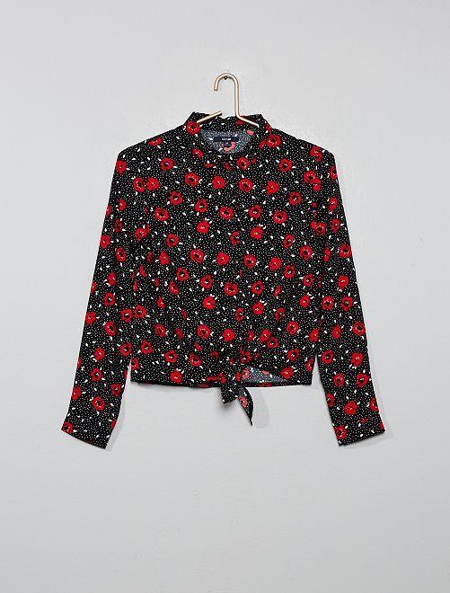 Chemise imprimée                                                                                         noir/fleurs