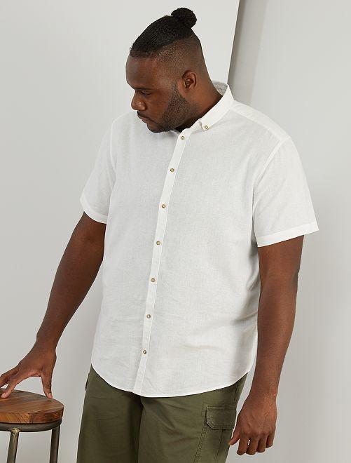 Chemise lin et coton                                                                 blanc