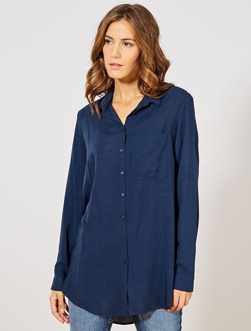 Chemise longueur tunique                                                                             bleu marine
