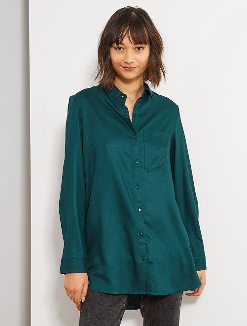 Chemise longueur tunique                                                     vert