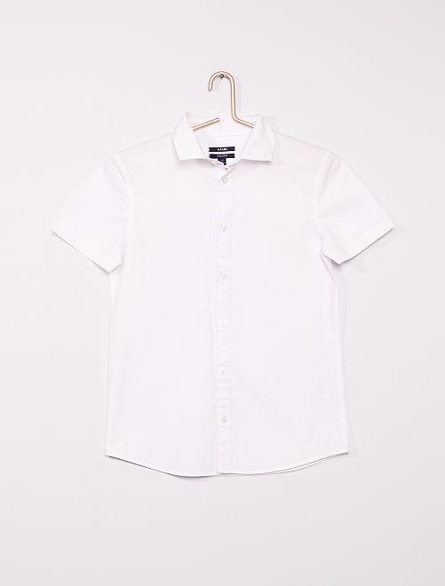Chemise manches courtes                             blanc