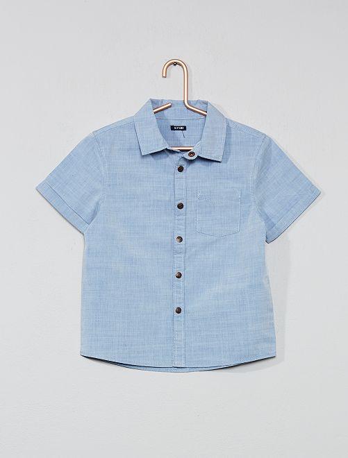 Chemise manches courtes                                         bleu Garçon