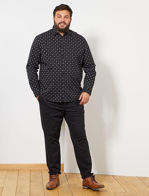 Chemise motif cachemire                                         noir
