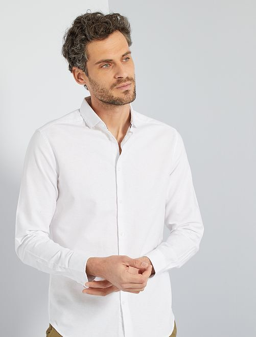 Chemise oxford éco-conçue                                                                 blanc