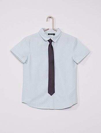 Chemise oxford et cravate