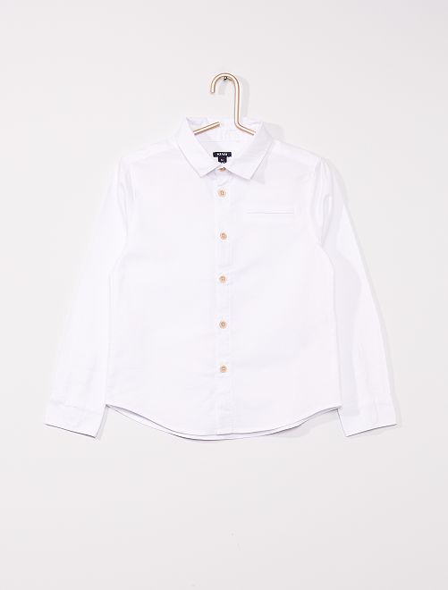 Chemise oxford manches longues                                         blanc