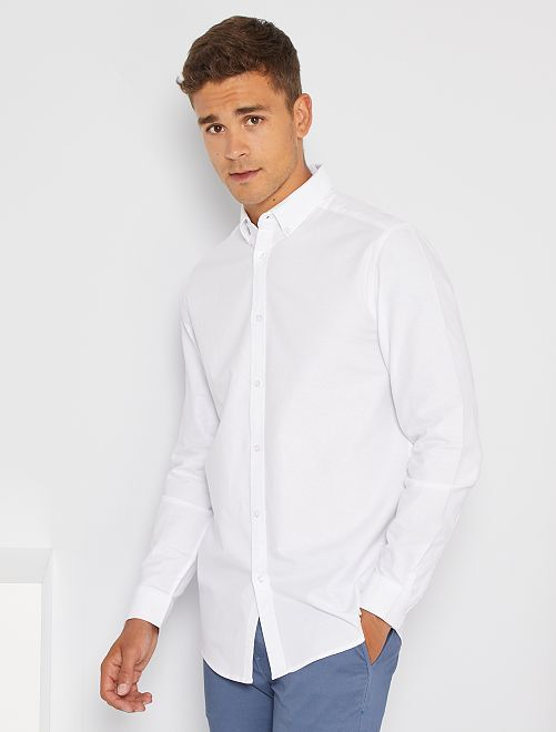 Chemise oxford regular                                                                 blanc