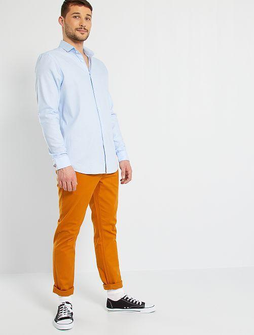 Chemise piqué de coton +1m90                                             bleu