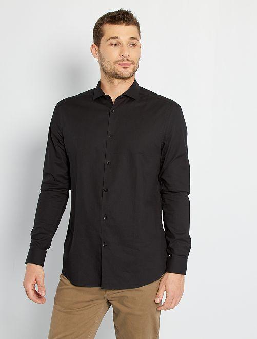 Chemise piqué de coton +1m90                                                     noir