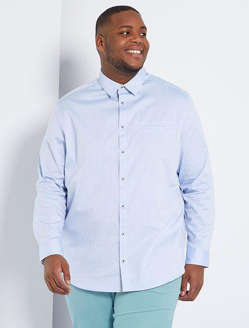 Chemise à micro motif                     bleu pâle