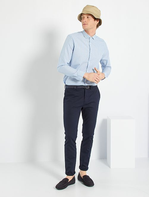 Chemise à carreaux                                 bleu/blanc