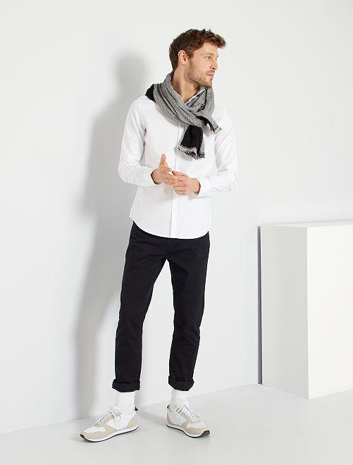 Chemise rayée en coton                                         blanc